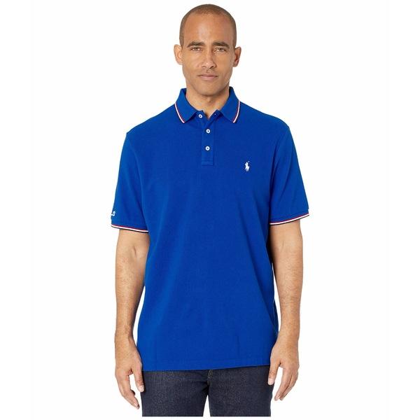 ラルフローレン メンズ シャツ トップス Classic Fit Mesh Polo Blue