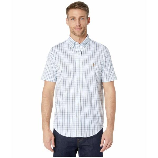 ラルフローレン メンズ シャツ トップス Pique Oxford Shirt White Multi