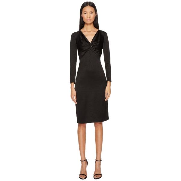 フランチェスコ?スコニャミリオ レディース ワンピース トップス Long Sleeve V-Neck Twist Front Dress Black