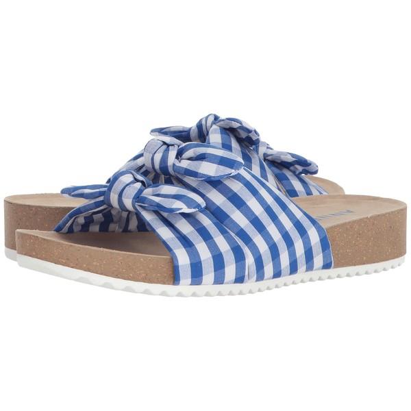 アンクライン レディース サンダル シューズ Quilt Medium Blue/White Fabric
