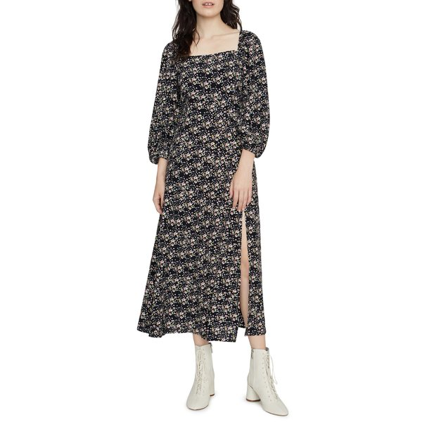サンクチュアリー レディース ワンピース トップス Sanctuary Lindsey Ditsy Floral Square Neck Midi Dress Winter Fresh