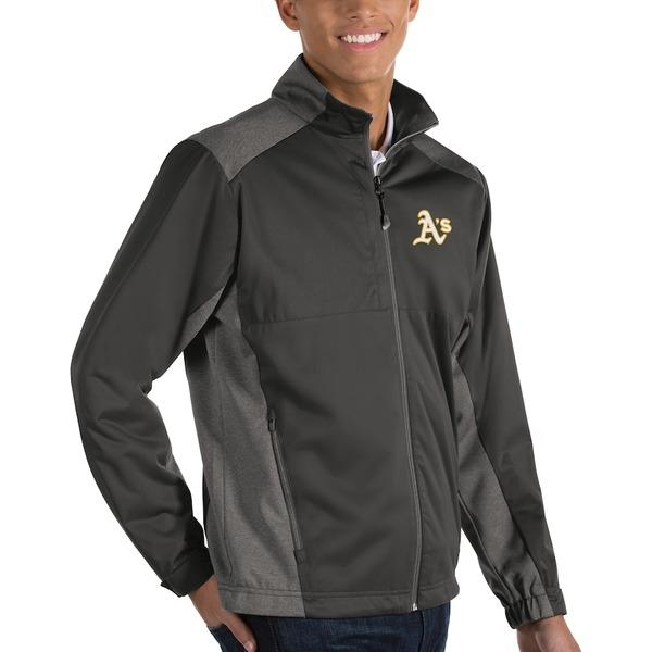 アンティグア メンズ ジャケット&ブルゾン アウター Oakland Athletics Antigua Revolve Full-Zip Jacket Charcoal
