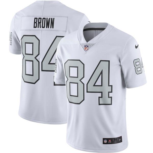 ナイキ メンズ シャツ トップス Antonio Brown Las Vegas Raiders Nike Color Rush Vapor Limited Jersey White