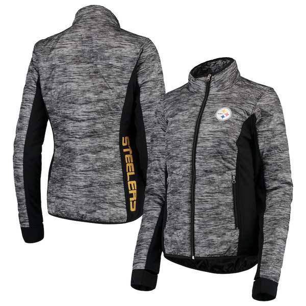 カールバンクス レディース ジャケット&ブルゾン アウター Pittsburgh Steelers G-III 4Her by Carl Banks Women's Huddle Full-Zip Jacket Black