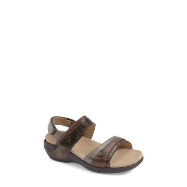 アラヴォン レディース サンダル シューズ 'Katherine' Sandal Grey Leather