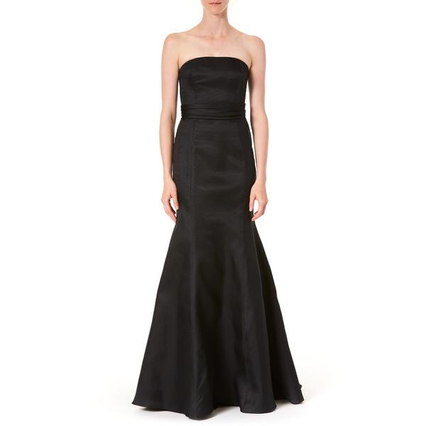 キャロライナヘレラ レディース ワンピース トップス Strapless Silk Trumpet Gown Black