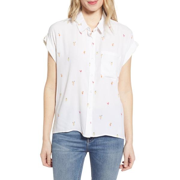 レイルズ レディース シャツ トップス Whitney Print Shirt Ivory Cocktail Hour