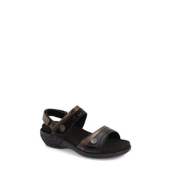 アラヴォン レディース サンダル シューズ 'Katherine' Sandal Black Leather