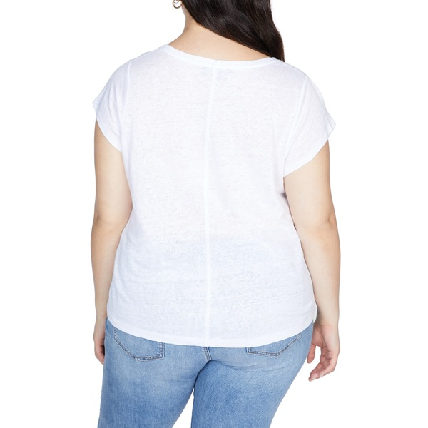 サンクチュアリー レディース Tシャツ トップス Alma Scoop Neck Linen T Shirt White JasmineARjq5L43