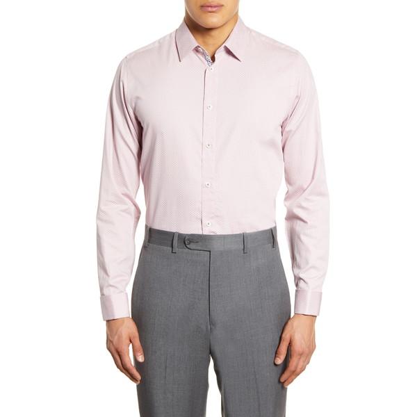 テッドベーカー メンズ シャツ トップス Modern Fit Dress Shirt Pink