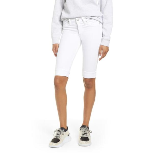 ハドソンジーンズ レディース カジュアルパンツ ボトムス Amelia Cuff Bermuda Shorts White