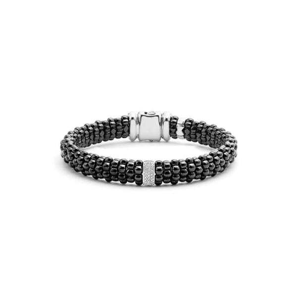 ラゴス レディース ブレスレット・バングル・アンクレット アクセサリー Black Caviar Bracelet Black/ Silver