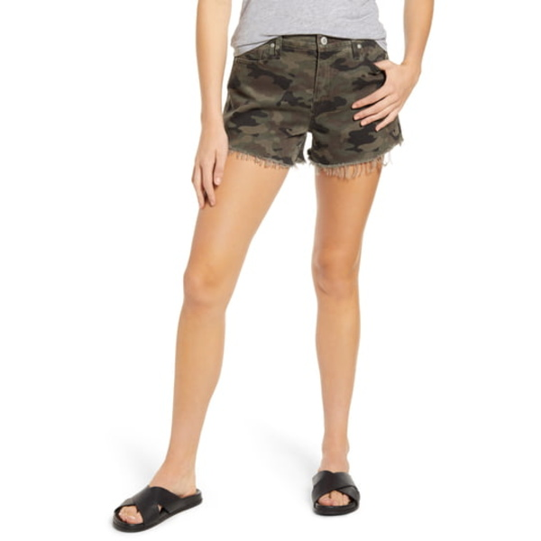 ハドソンジーンズ レディース カジュアルパンツ ボトムス Gemma Cutoff Denim Shorts Classic Camo