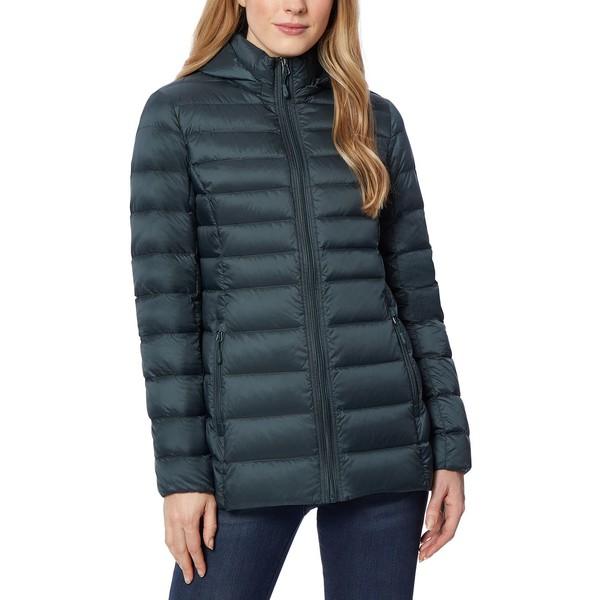 32ディグリー レディース アウター コート Darkest Spruce 贈与 全商品無料サイズ交換 Packable Macy's Created Coat WEB限定 Hooded for Puffer Down
