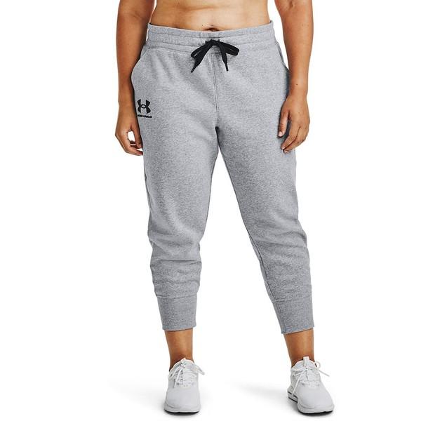 アンダーアーマー 低価格 レディース ボトムス カジュアルパンツ Steel Medium Heather Black Size Rival Jogger 全商品無料サイズ交換 Fleece 期間限定 Plus Pants