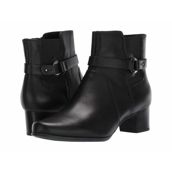 クラークス レディース ブーツ&レインブーツ シューズ Un Damson Mid Black Leather