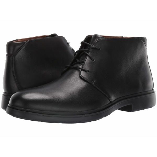 クラークス メンズ ブーツ&レインブーツ シューズ Un Taiior Mid Black Leather