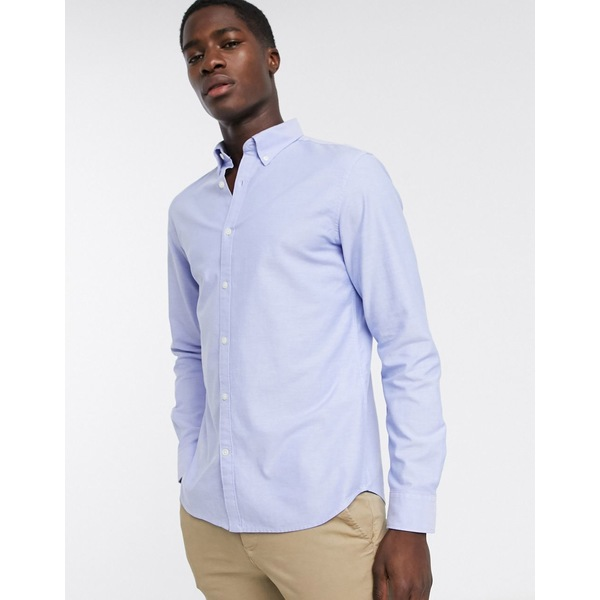 セレクテッドオム メンズ シャツ トップス Selected Homme classic oxford shirt in light blue Light blue