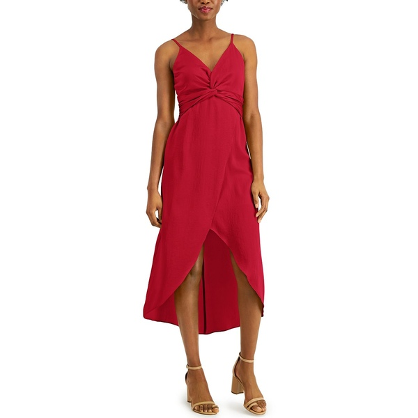 永遠の定番 バースリー レディース 大規模セール トップス ワンピース Cardinal 全商品無料サイズ交換 Twist-Front Created Macy's for High-Low Dress