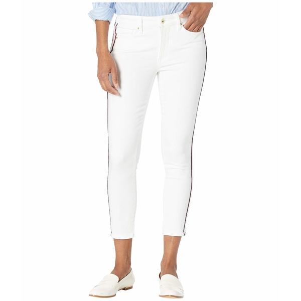 トミー ヒルフィガー レディース デニムパンツ ボトムス Tribeca Ankle Side Stripe Jeans in White White