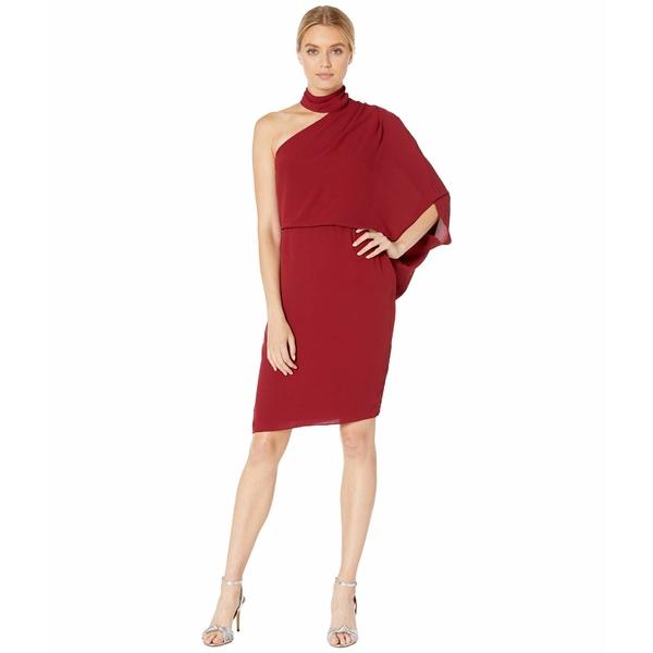 ホルストンヘリテイジ レディース ワンピース トップス Wrap Neck Asymmetric Draped Dress Cherry