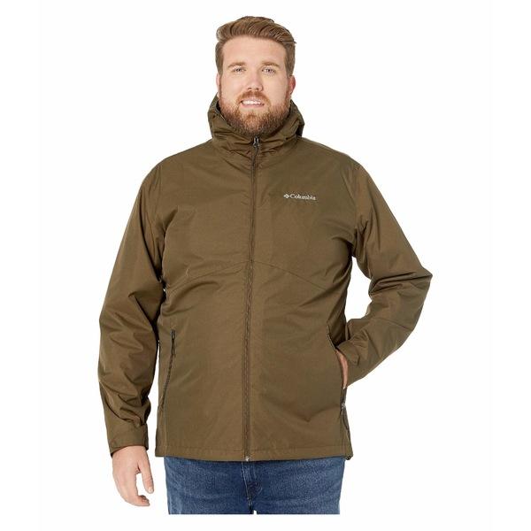 コロンビア メンズ コート アウター Big & Tall Rainie Falls Jacket Olive Green/Black Sherpa