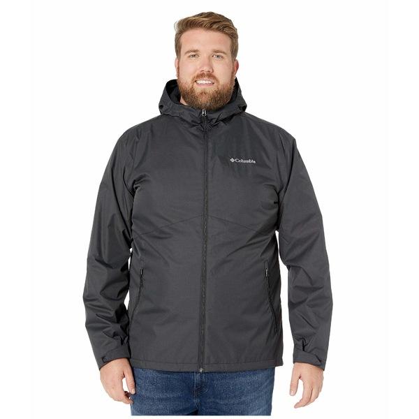 コロンビア メンズ コート アウター Big & Tall Rainie Falls Jacket Black/Black Sherpa