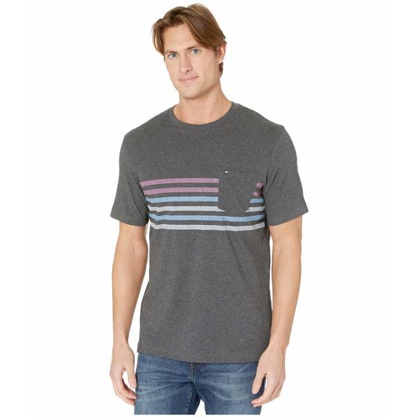 トラビスマヒュー メンズ シャツ トップス Real Stars T-Shirt Heather Grey Pinstripe
