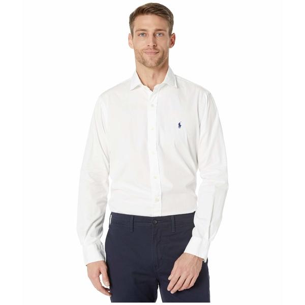 ラルフローレン メンズ シャツ トップス Garment Dyed Chino Shirt White