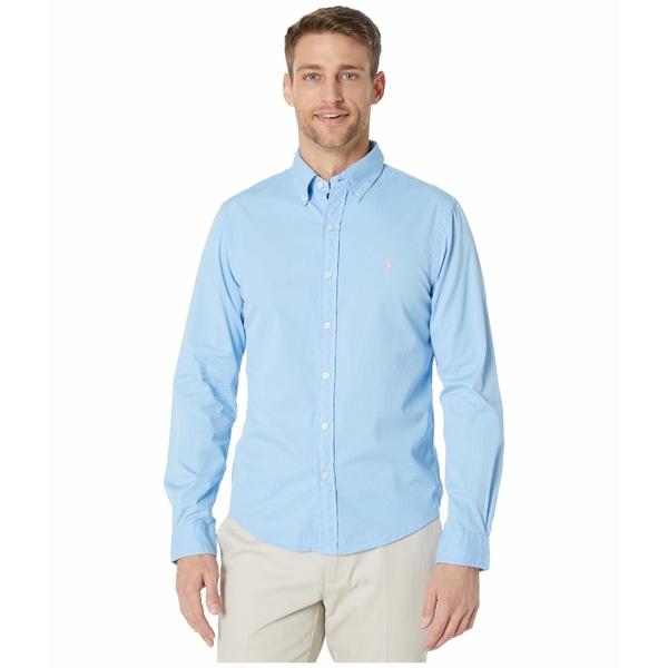 ラルフローレン メンズ シャツ トップス Garment Dyed Chino Shirt Blue