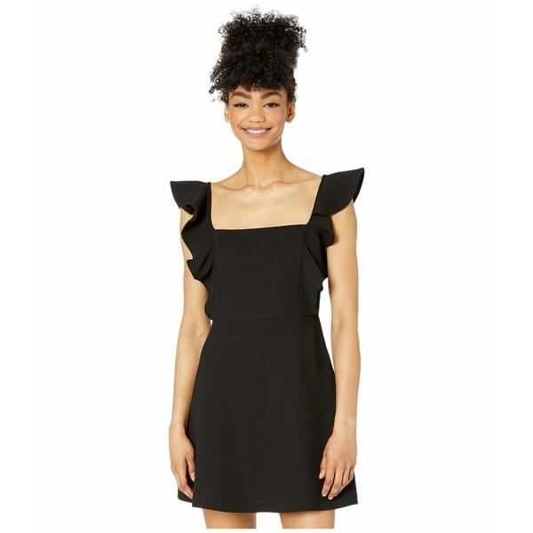 BCBジェネレーション レディース ワンピース トップス Ruffle Sleeve Square Neck Dress - GEF6270355 Black