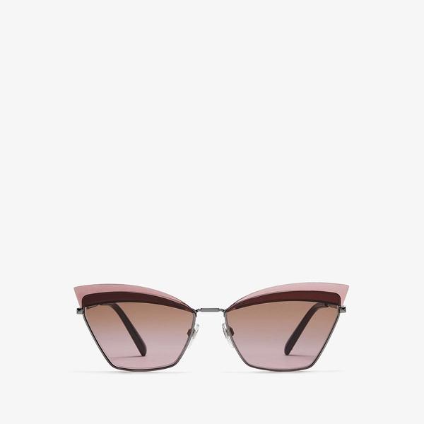 ヴァレンティノ レディース サングラス&アイウェア アクセサリー 0VA2029 Gunmetal/Gradient Brown Pink