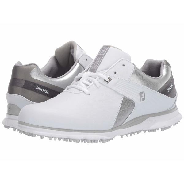 フットジョイ レディース スニーカー シューズ Pro SL White/Silver/Grey
