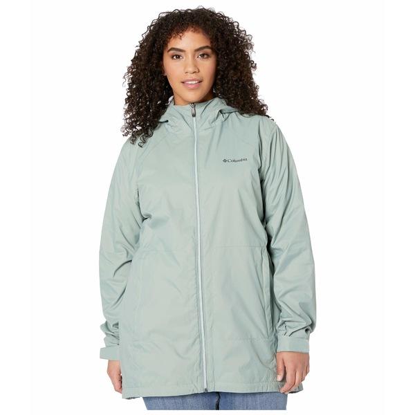 コロンビア レディース コート アウター Plus Size Switchback Lined Long Jacket Light Lichen/Cool Green