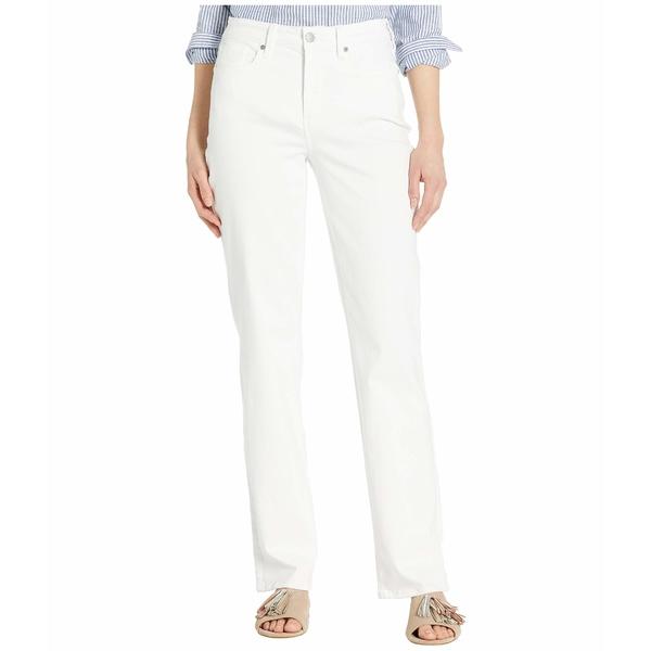 エヌワイディージェイ レディース デニムパンツ ボトムス Relaxed Straight Jeans in Optic White Optic White