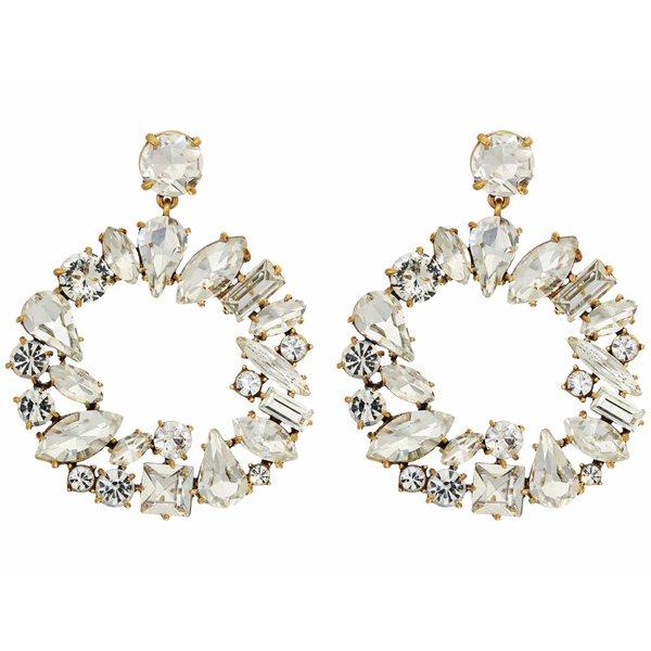 ジェイクルー レディース ピアス&イヤリング アクセサリー Multi Facet Glitz Earrings Crystal