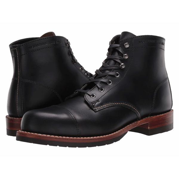 【お気に入り】 ウルバリン Cap-Toe メンズ シューズ ブーツ&レインブーツ シューズ 1000 Mile Cap-Toe Boot Boot Black, イーオフィス:81790704 --- arg-serv.ru
