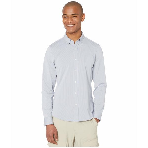 ローヌ メンズ シャツ トップス Commuter Dress Shirt Indigo Stripe