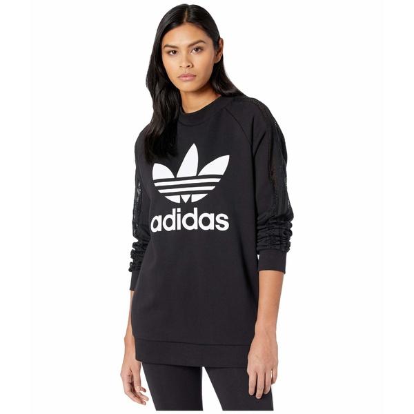 アディダスオリジナルス レディース パーカー・スウェットシャツ アウター Bellista Lace Sweatshirt Black