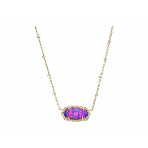 ケンドラスコット レディース ネックレス・チョーカー・ペンダントトップ アクセサリー Elisa Satellite Short Necklace Gold/Violet Opal