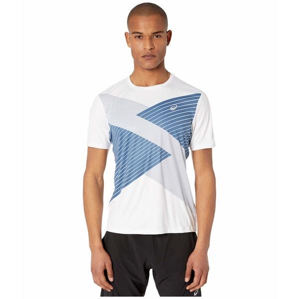 アシックス メンズ シャツ トップス Tokyo Short Sleeve Top Brilliant White/Grand Shark