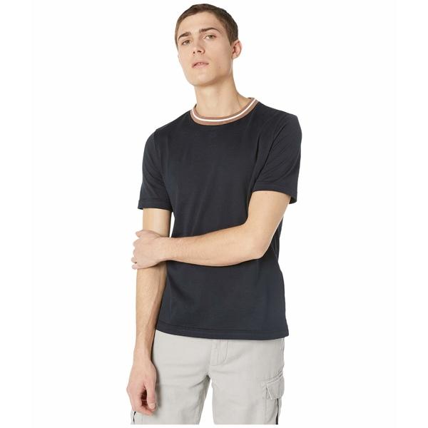 イレブンティ メンズ シャツ トップス Stripe Detail Crew Neck T-Shirt Navy
