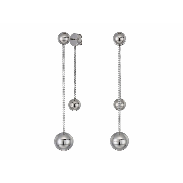 カルバンクライン レディース ピアス&イヤリング アクセサリー Unpaired - Drop Earrings Stainless Steel/Silver
