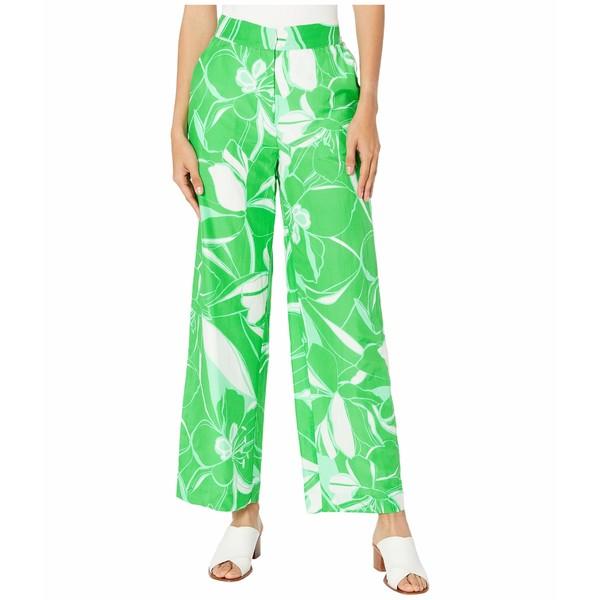 ミリー レディース カジュアルパンツ ボトムス Stencil Floral Print Blanca Pants Green MultiNn0m8w