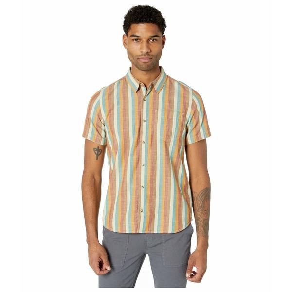 ドード アンドコー メンズ シャツ トップス Fletch Short Sleeve Shirt Hydro Stripe