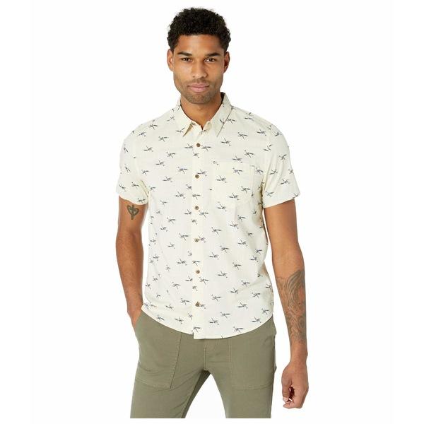 ドード アンドコー メンズ シャツ トップス Fletch Short Sleeve Shirt Oatmeal Road Runner Print