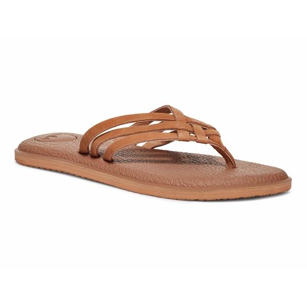 サヌーク レディース サンダル シューズ Yoga Salty Leather Tan