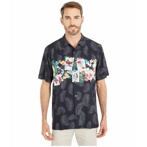 トッミーバハマ メンズ シャツ トップス Jackpot Fronds Camp Shirt Black