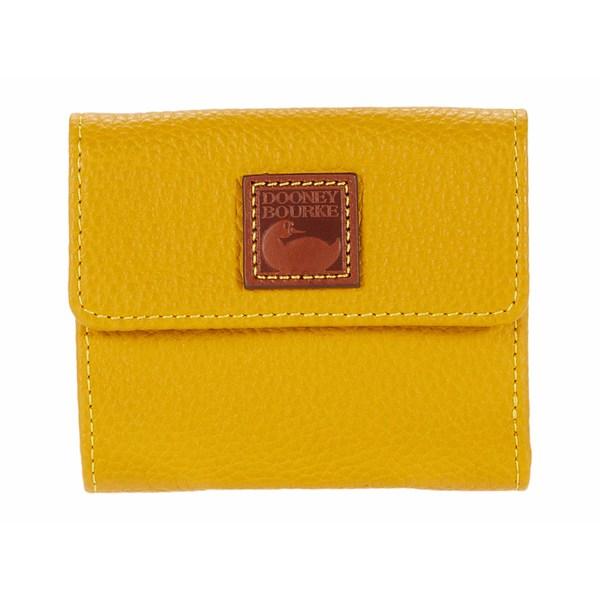 ドーネイアンドバーク レディース 財布 アクセサリー Pebble Small Flap Wallet Mustard