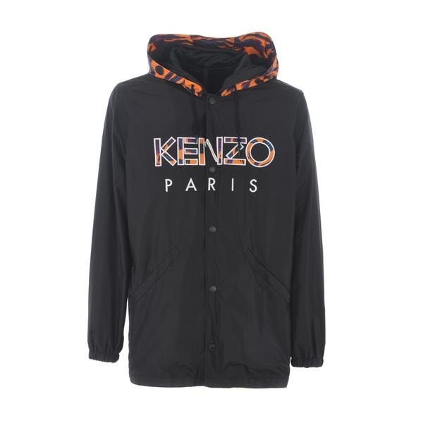 ケンゾー メンズ ジャケット&ブルゾン アウター Logo Hooded Parka Nero